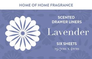 Home of Home Fragrance Scented Drawer Liners  - Silver Gift Tube - Lavender